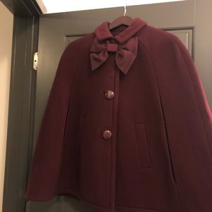 Kate Spade capelet coat